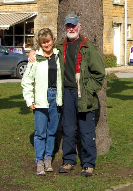 John and I vacationing in England.
